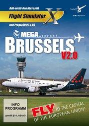 Flight Simulator X Addon Mega Airport Brüssels V2 - PC-DVD