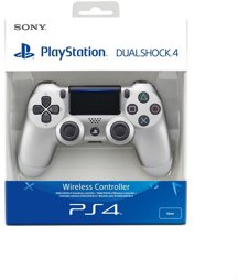 Controller Wireless, DualShock 4, silver, V2, Sony - PS4