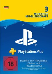 Playstation Network Plus Card 3 Monate (DT) - PSN Card