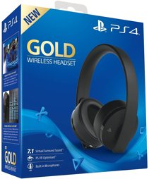 Headset Gold 7.1 VR, Wireless, black, Sony - PS3/PS4/PSV