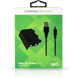 Play & Charge Kit, schwarz, Under Control - XBOne