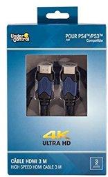Kabel - HDMI / HDMI 3,0m, 4K Ultra HD, blau, Under Control