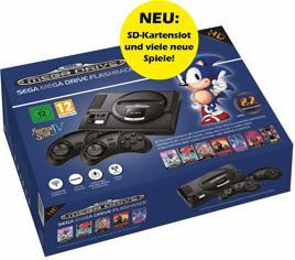 Grundgerät Sega Mega Drive Flashback HD, V2, 2 Pads + Kabel
