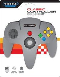 Controller, grau, retro-bit - N64
