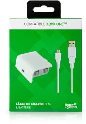 Play & Charge Kit, weiß, Under Control - XBOne