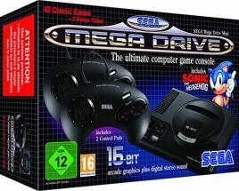 Grundgerät Sega Mega Drive Mini, 2 Pads, ohne USB-Netzteil