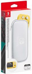 Tasche (Carrying Case) & Folie, grau, Nintendo - Switch Lite
