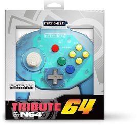 Controller Tribute 64, blau transparent, retro-bit - N64