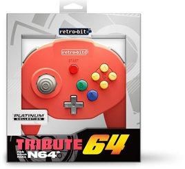 Controller Tribute 64, rot, retro-bit - N64