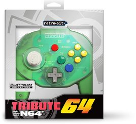 Controller Tribute 64, grün transparent, retro-bit - N64