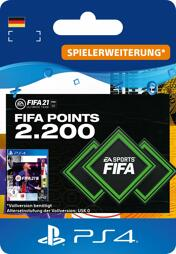 Fifa 2021 Ultimate Team Points (2200 Punkte) - PS4-PIN/PS5