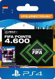 Fifa 2021 Ultimate Team Points (4600 Punkte) - PS4-PIN/PS5