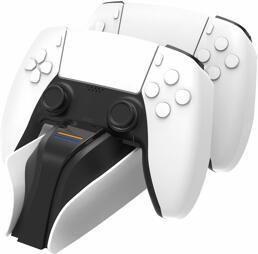 Controller-Akku Ladestation (2 Pads), white, snakebyte - PS5