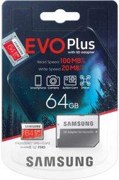 Flashspeicher - microSDXC-Card - 64GB EVO Plus Samsung