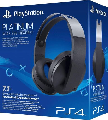 Headset Platinum 7.1+, Wireless, black, Sony - PC/PS4