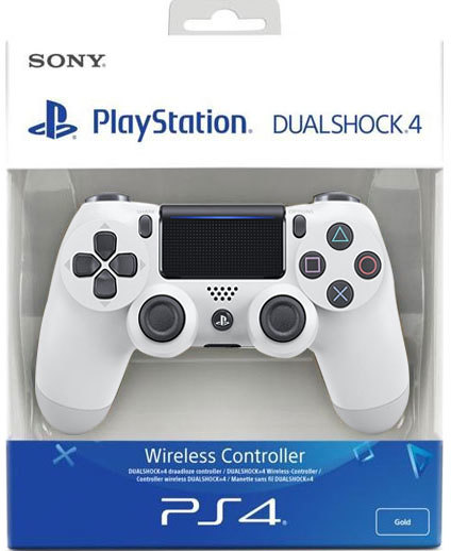 Controller Wireless, DualShock 4, white, V2, Sony - PS4 .