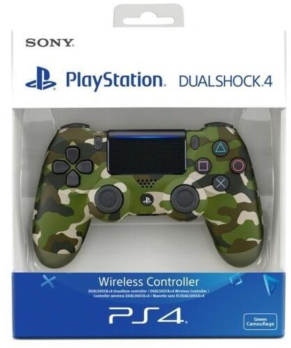 Controller Wireless, DualShock 4, green camo, V2, Sony - PS4 .
