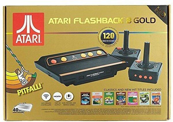 Grundgerät Atari Flashback 8 Gold HD, 2 Joysticks + Kabel .