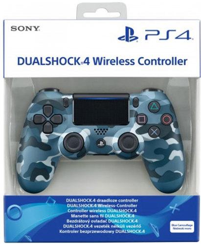 Controller Wireless, DualShock 4, blue camo, V2, Sony - PS4 .