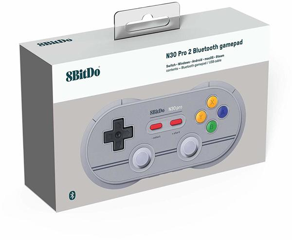 Controller N30 Pro 2, Bluetooth, 6 Ed, 8BitDo - alle Systeme .