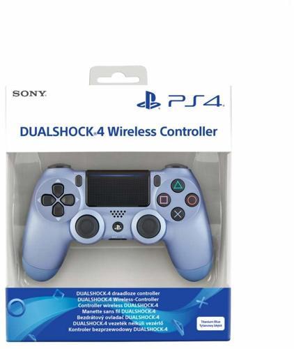 Controller Wireless, DualShock 4, titanium blue, Sony - PS4 .