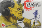 Citadel Base Paint Set (10 Farben & 1 Pinsel)